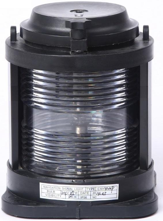 Luz de Navegação de Popa Alcançado Homologada Branca 135° LED 12V em Plástico Montagem Horizontal