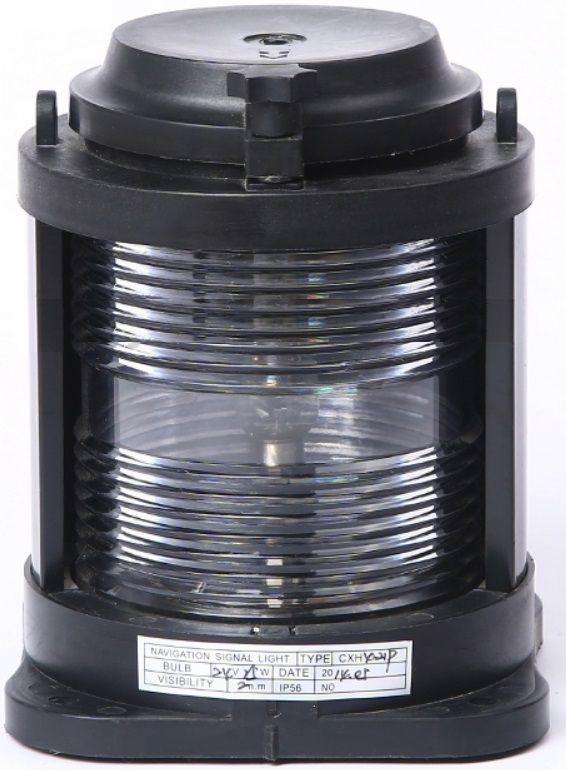 Luz de Navegação de Popa Alcançado Homologada Branca 135° LED 24V em Plástico Montagem Horizontal
