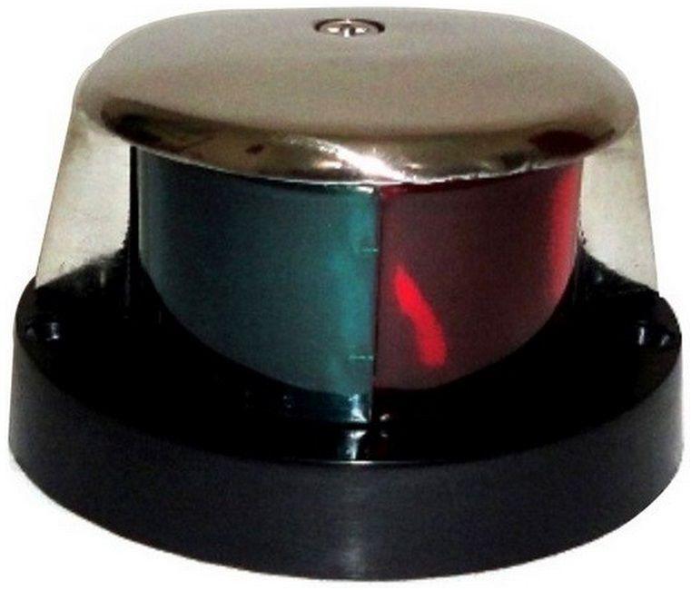 Luz de Navegação de Proa Bicolor Bombordo e Boreste BB/BE em Aço Inox 12V de Sobrepor