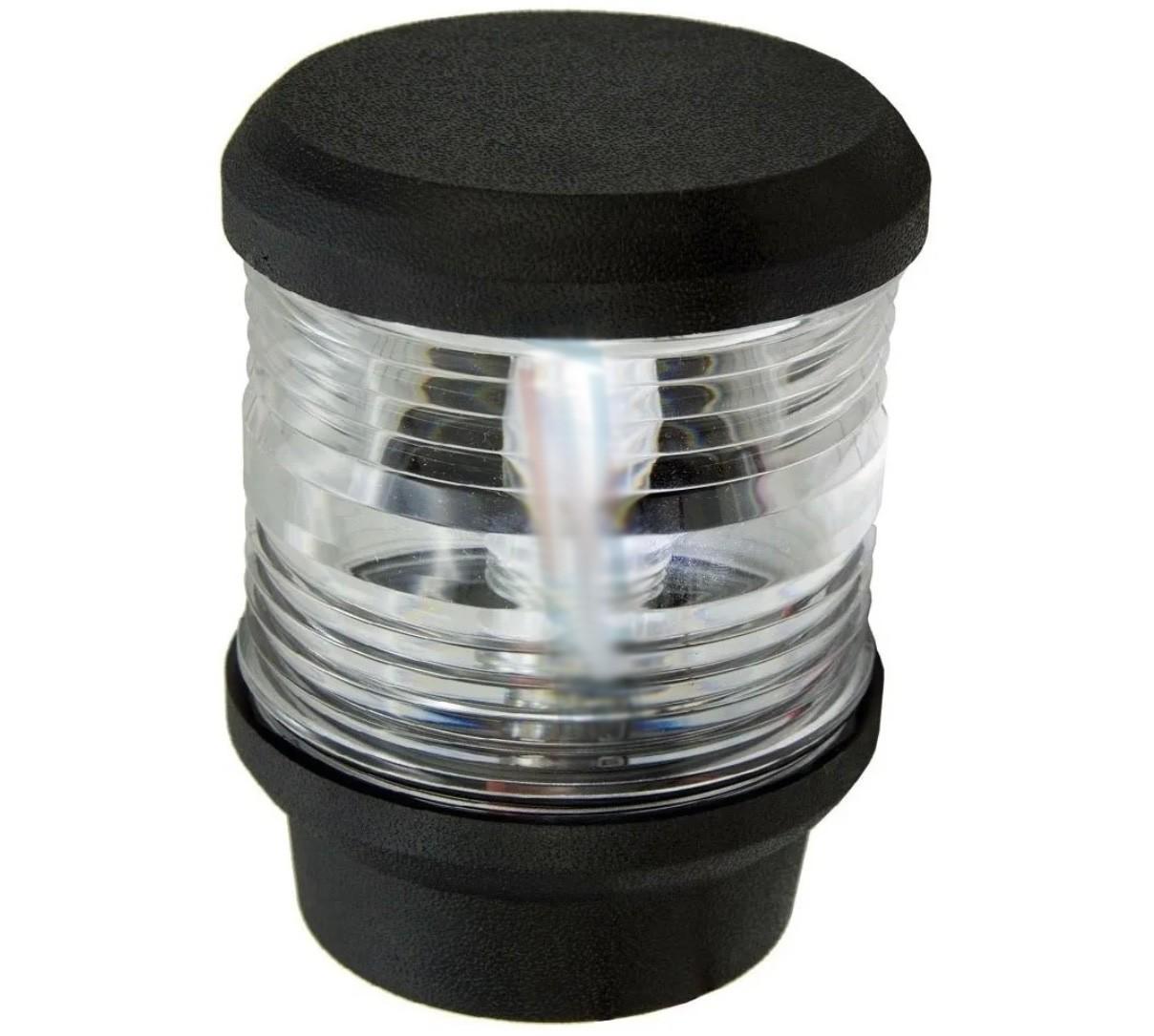 Luz de Navegação de Top de Fundeio (ou de Popa) com LED Branco Quente 12V Visibilidade 2 Milhas
