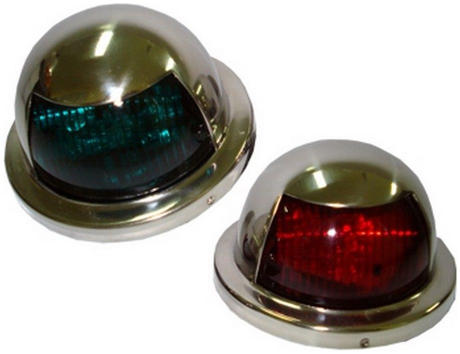 Luz de Navegação LED Bombordo Boreste BB/BE em Inox 12V (PAR) Montagem na Horizontal