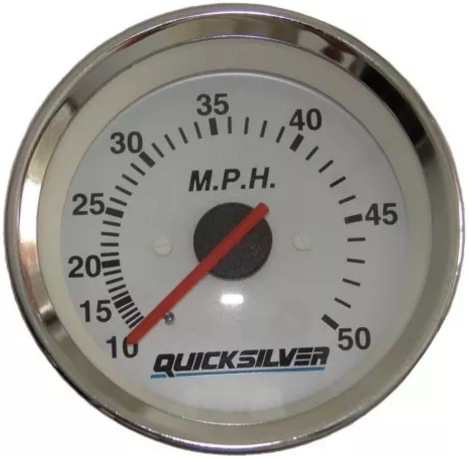 Medidor Velocímetro para Embarcações 50 MPH com Mangueira Mercury Quicksilver 883622Q2