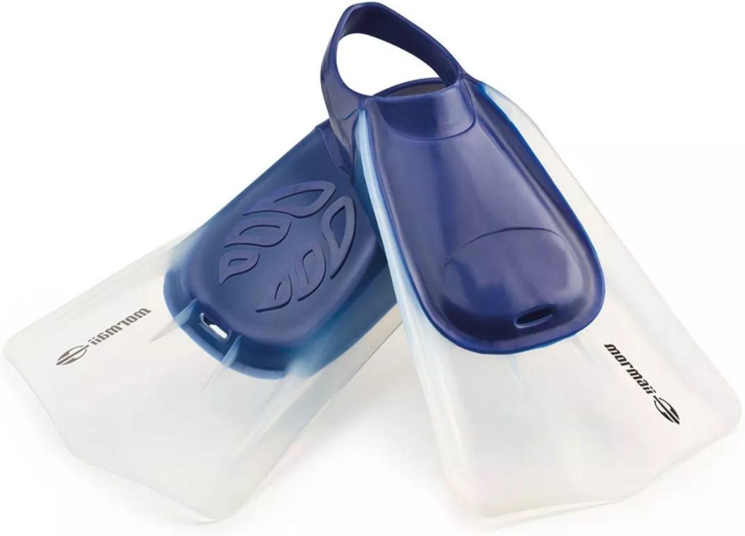 Nadadeira Pé de Pato Mormaii Wave Azul Tamanho M para Bodyboard e Natação