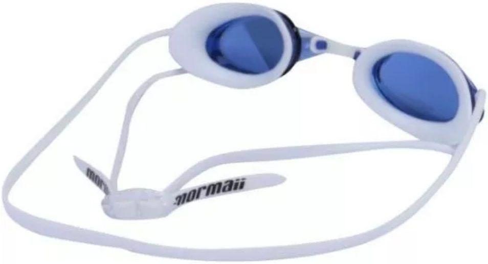 Óculos de Natação Mormaii Flexxxa Branco Lente Espelhada Proteção UV