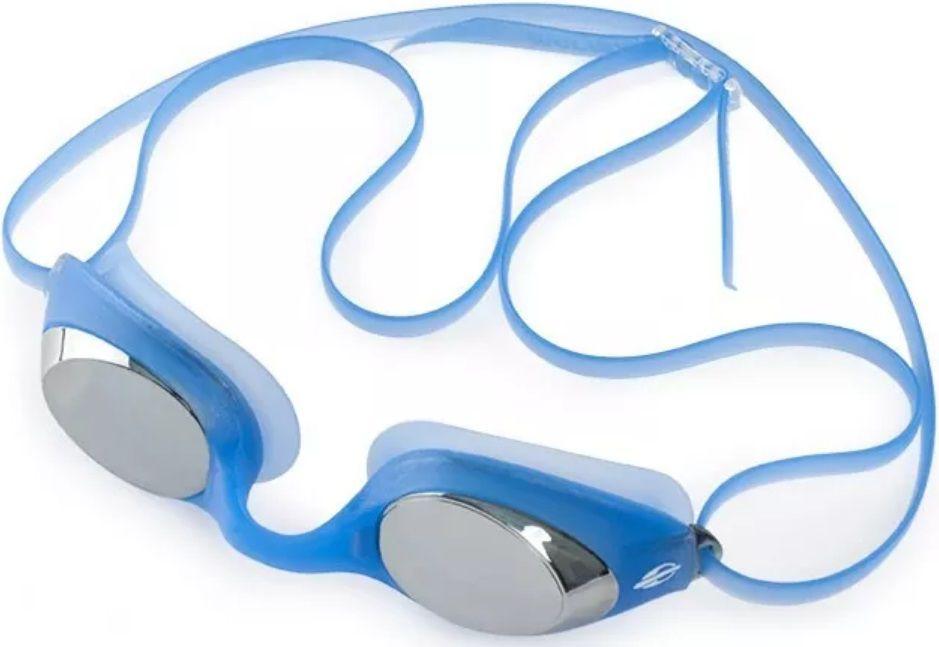Óculos de Natação Mormaii Snap Azul Lente Espelhada Proteção UV