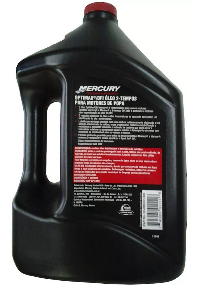 Óleo para Motor de Popa Mercury OptiMax DFI Injeção Direta 2 Tempos SAE 20W Sintético 4 Litros