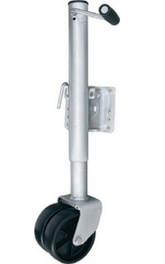 Pedestal Terceira Roda para Carreta Náutica de Reboque com Roda Dupla 680kg Escamoteável Attwood