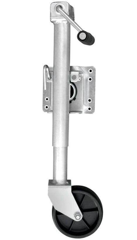 Pedestal Terceira Roda para Carreta Náutica de Reboque com Roda Simples 453kg Escamoteável Attwood