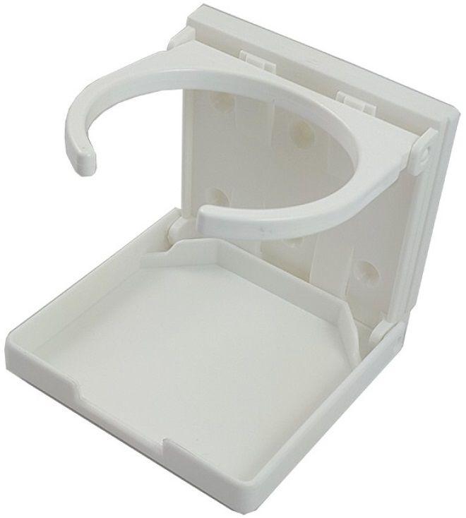 Porta-Copos Dobrável Branco para Barcos Lanchas e Veleiros em ABS