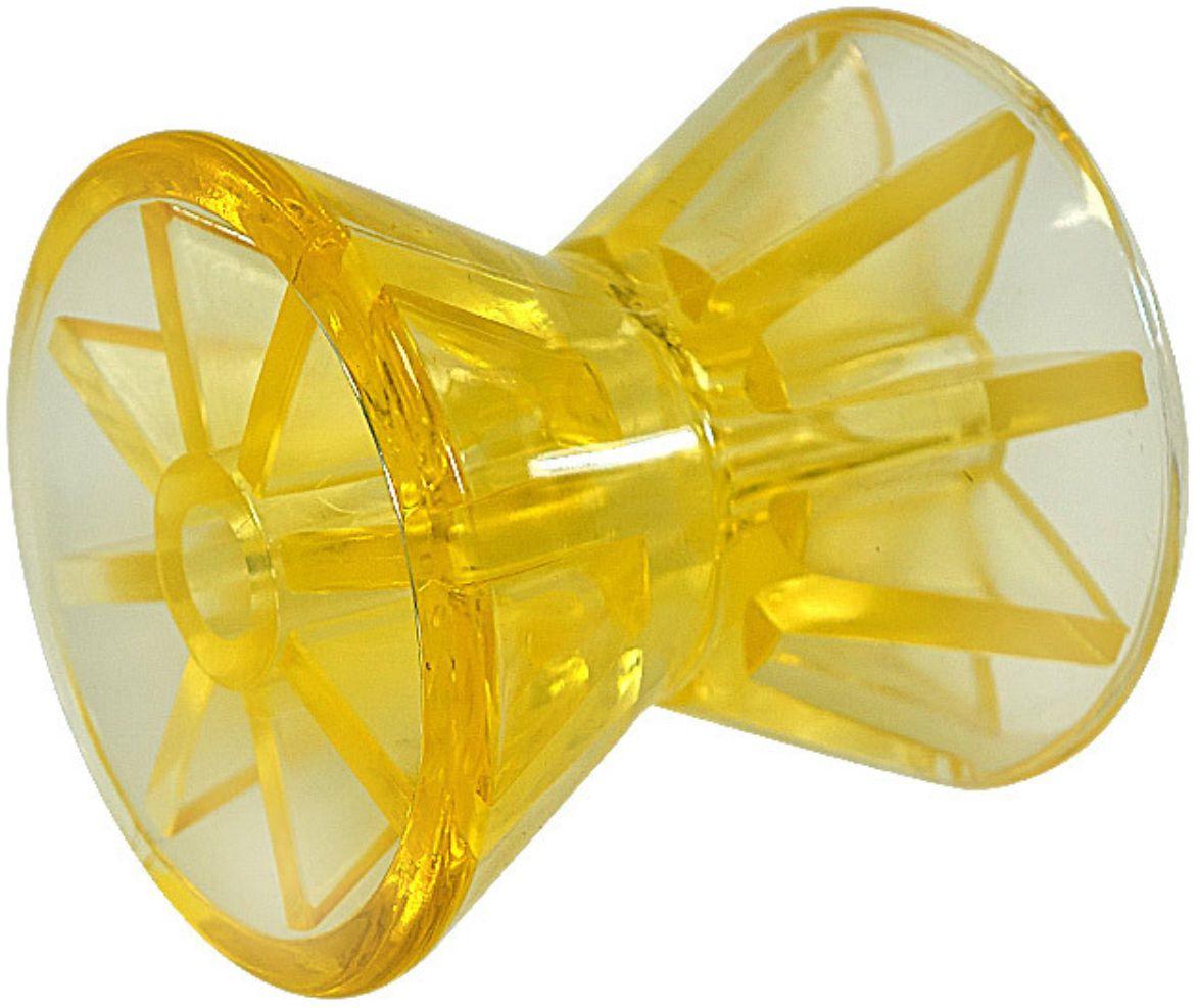 Rolo para Carreta Náutica Reboque em Polietileno Amarelo 10,2cm para Barco Lancha Jet Ski