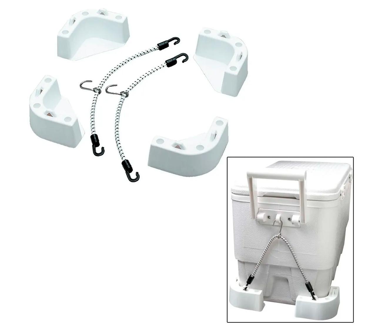 Suporte Base para Caixa Térmica Cooler Isopor Attwood para uso em Barcos Lanchas Pesca
