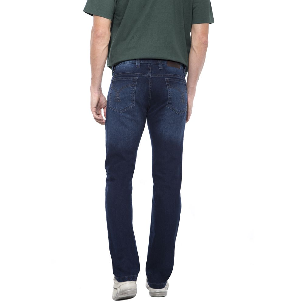 Calça Jeans Hugo Deleon Elastano Lavado Azul