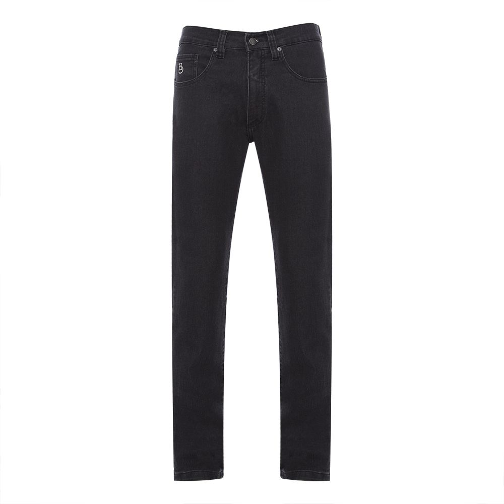 Calça jeans Hugo Deleon elastano Black