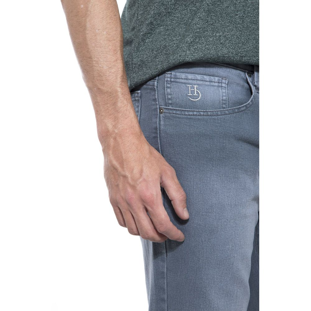 Calça Jeans Hugo Deleon Elastano Cinza
