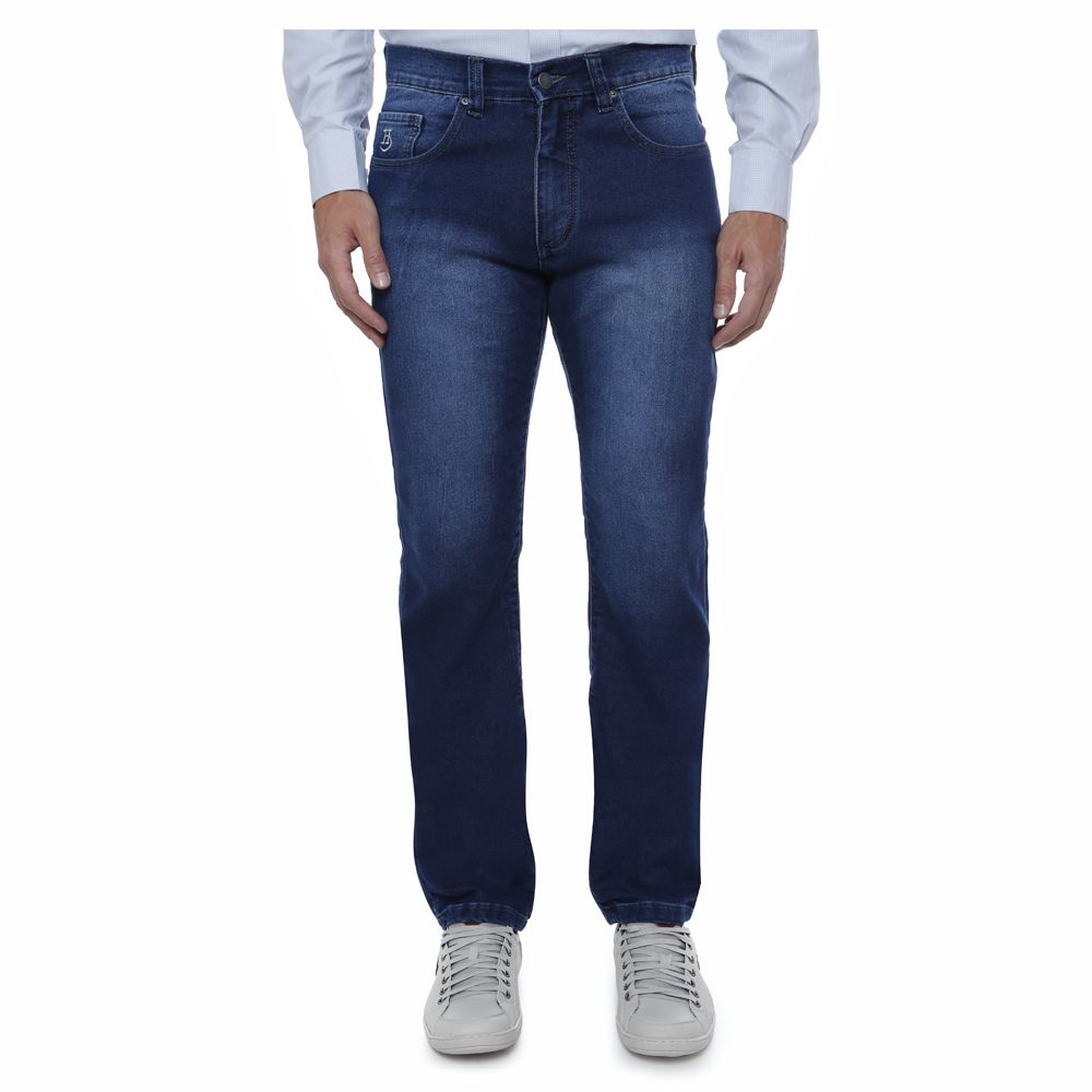 Calça Jeans Hugo Deleon Clássica Tradicional Azul