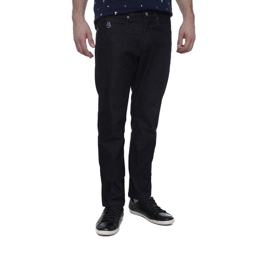 Calça Jeans Hugo Deleon Elastano Preta
