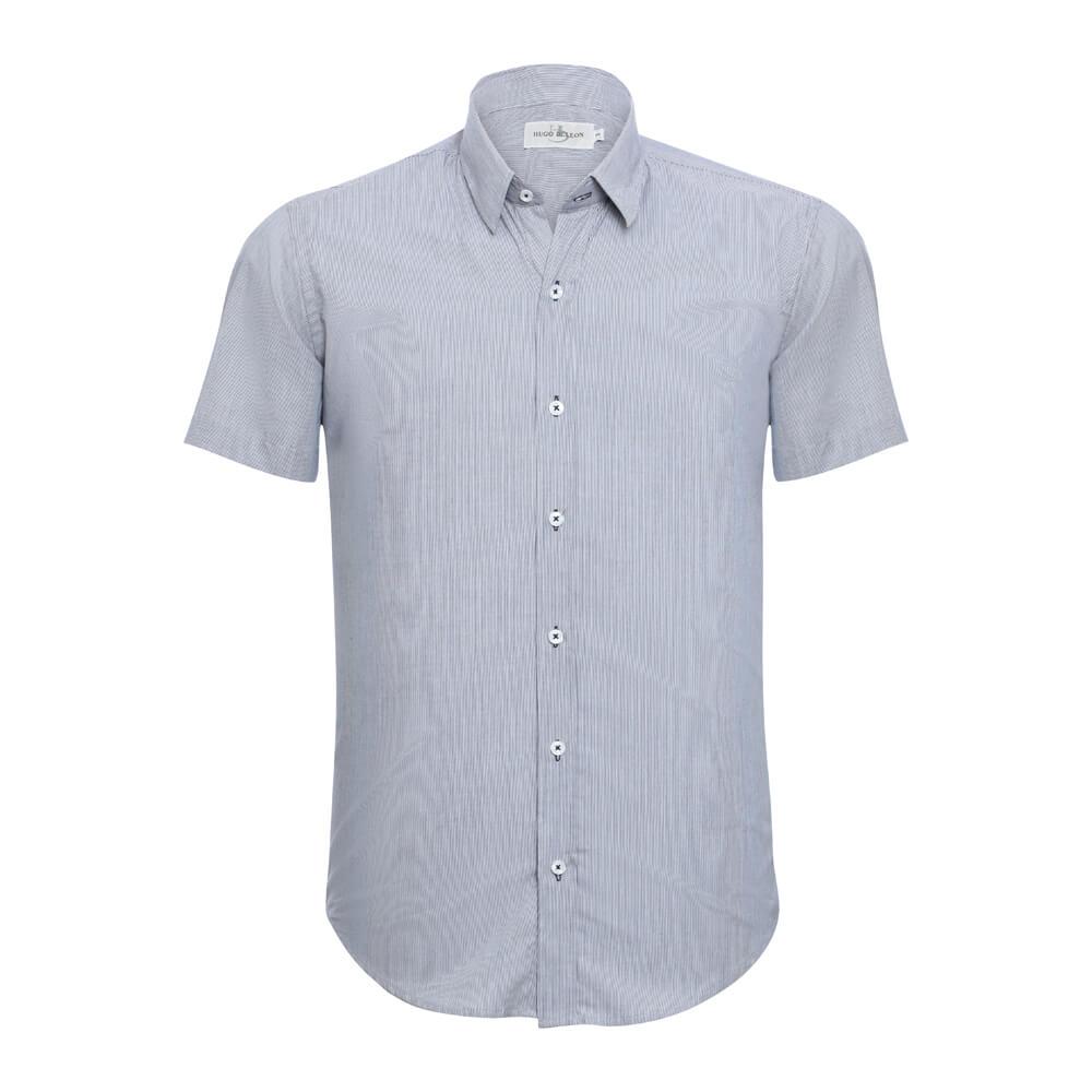 Camisa Hugo Deleon Curta Esporte Azul