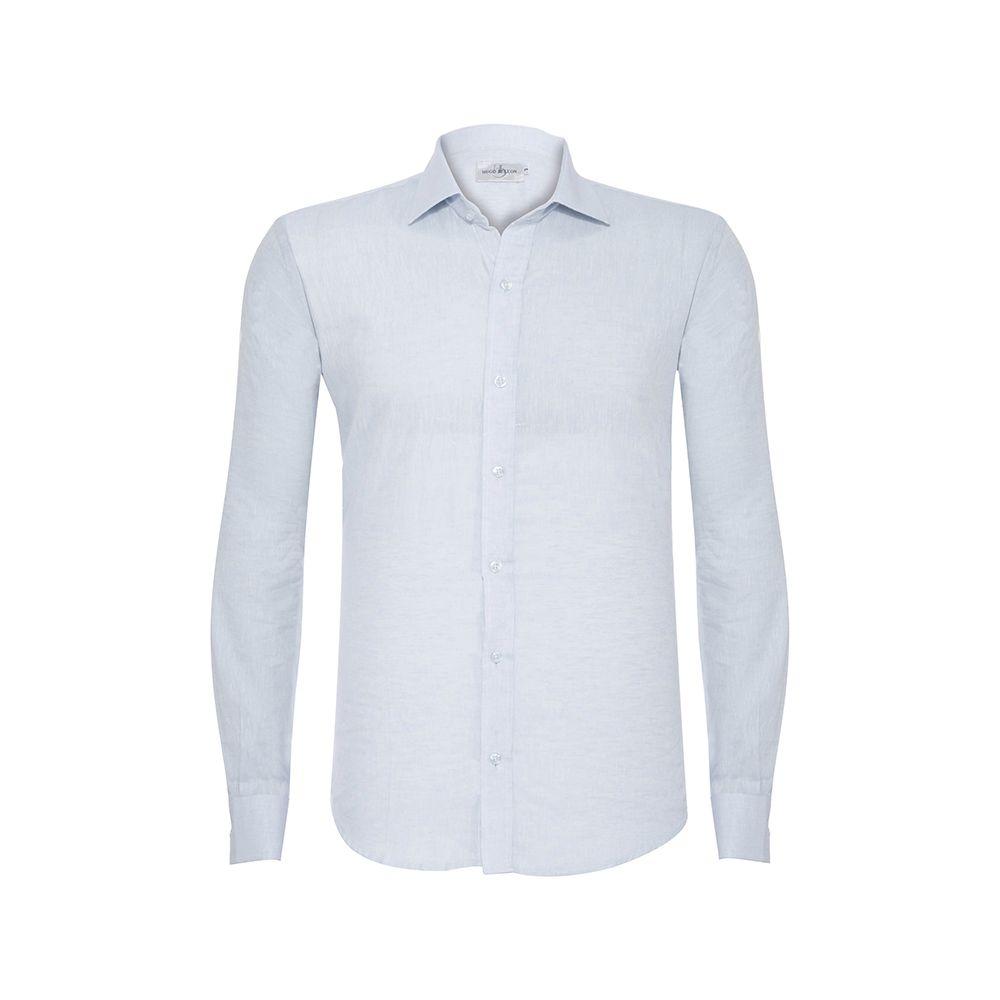 Camisa Hugo de Deleon Linho Azul Claro