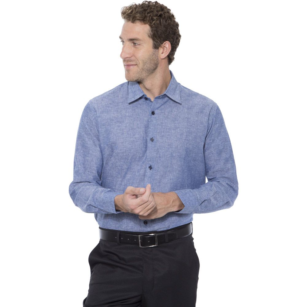 Camisa Hugo Deleon Linho Azul
