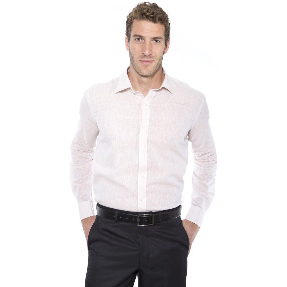 Camisa Hugo Deleon Linho Bege