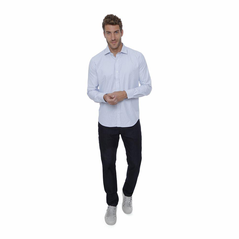 Camisa passa fácil Hugo Deleon Enzo cinza