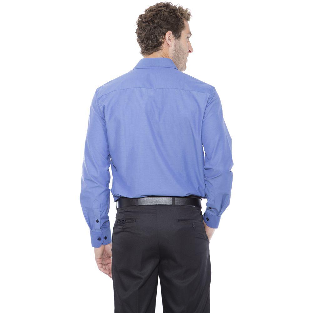 Camisa Passa Fácil Hugo Deleon Esporte Fino Azul