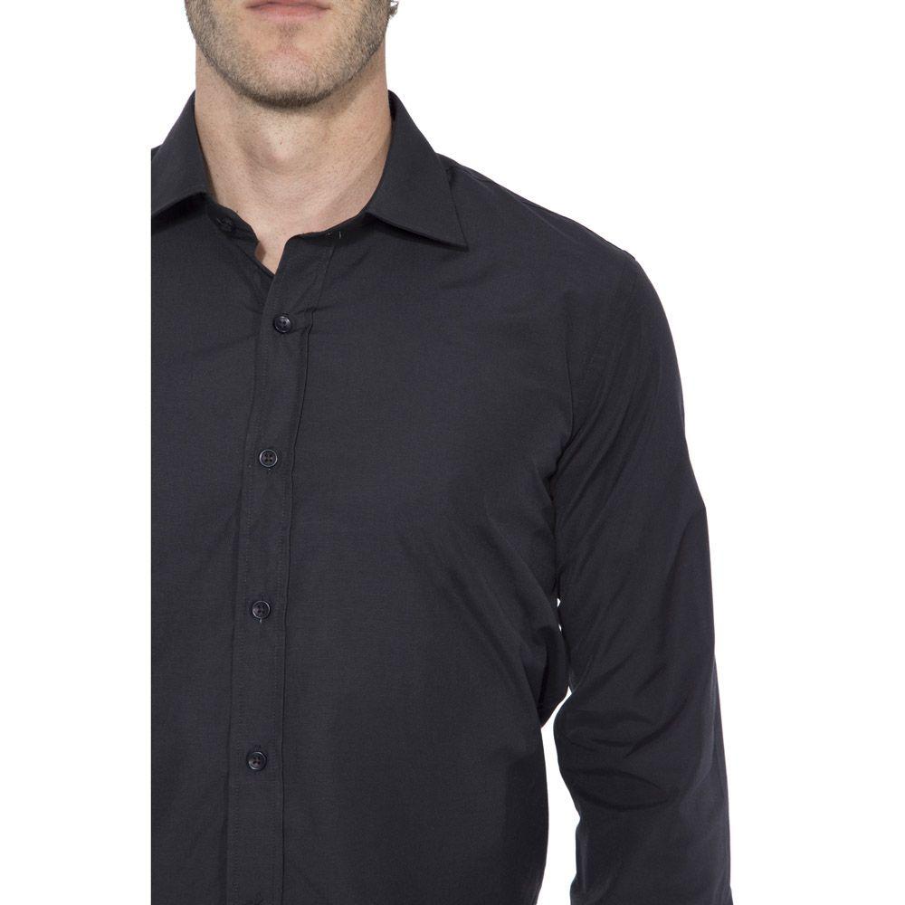 Camisa Passa Fácil Hugo Deleon Lisa Preta