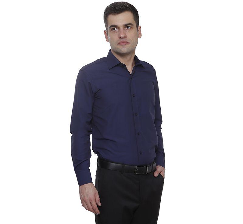 Camisa passa fácil Hugo Deleon Plus azul marinho