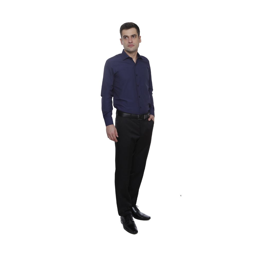 Camisa Pássa Fácil Hugo Deleon Plus Marinho