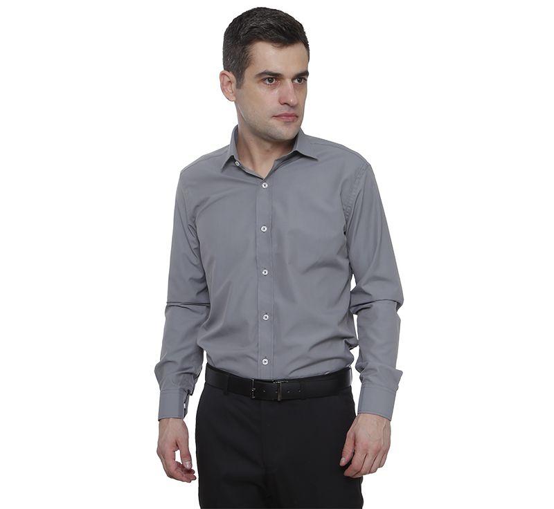Camisa passa fácil Hugo Deleon Plus cinza escuro