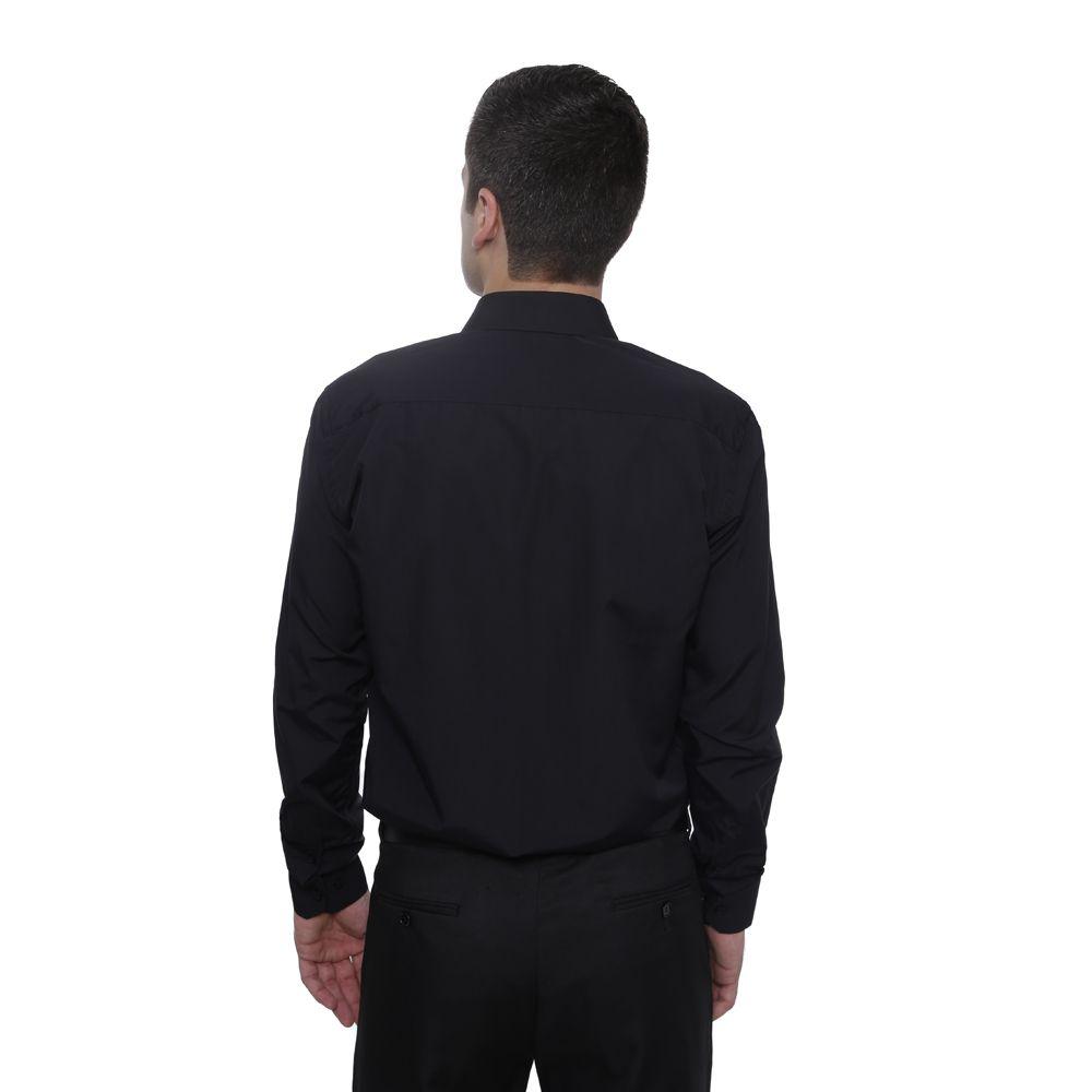 Camisa Passa Fácil Hugo Deleon Plus Preta