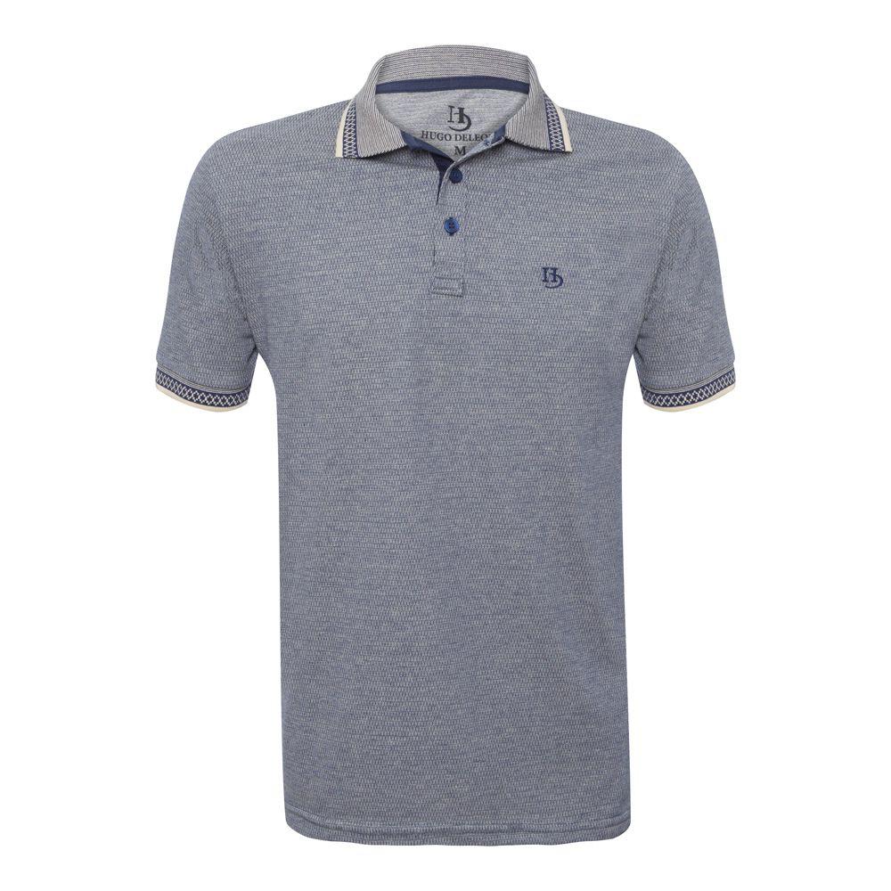 Camisa Polo Hugo Deleon Malha Premium Azul