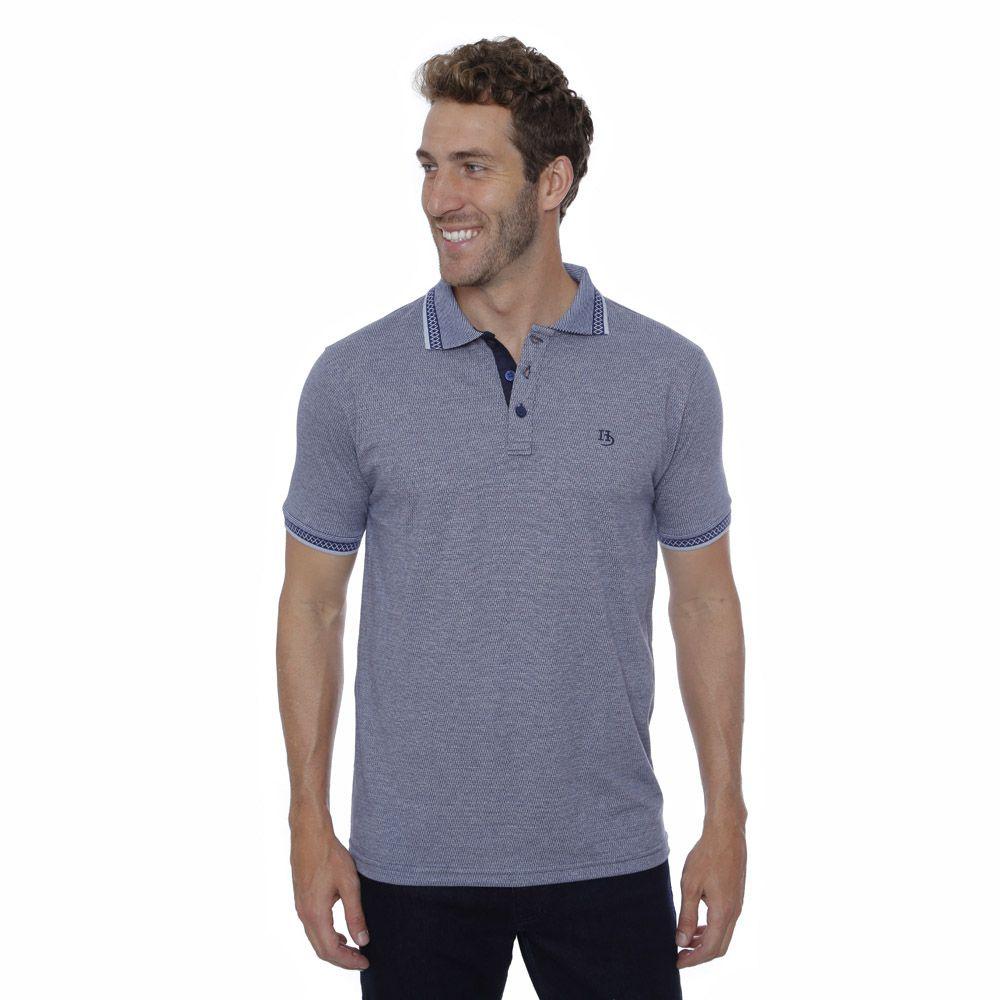 Camisa Polo Hugo Deleon Malha Premium Marinho