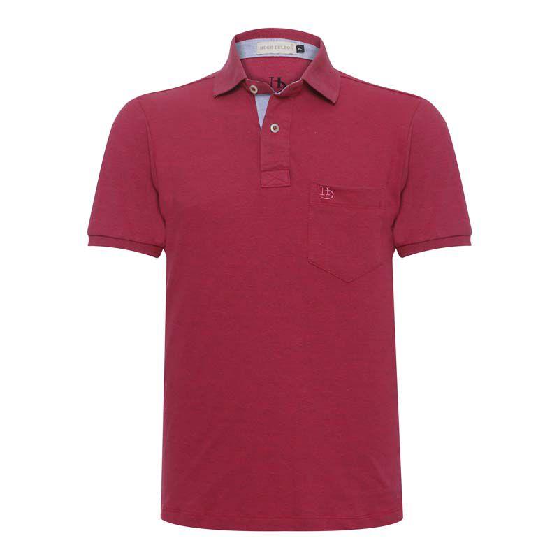 Camisa Polo Hugo Deleon Bolso Piquet
