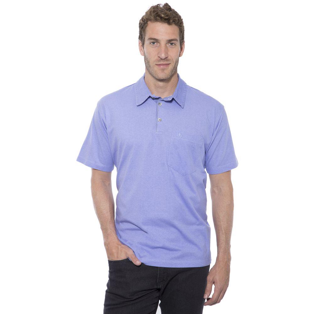 Camisa Polo Hugo Deleon Plus Estampada Lilás
