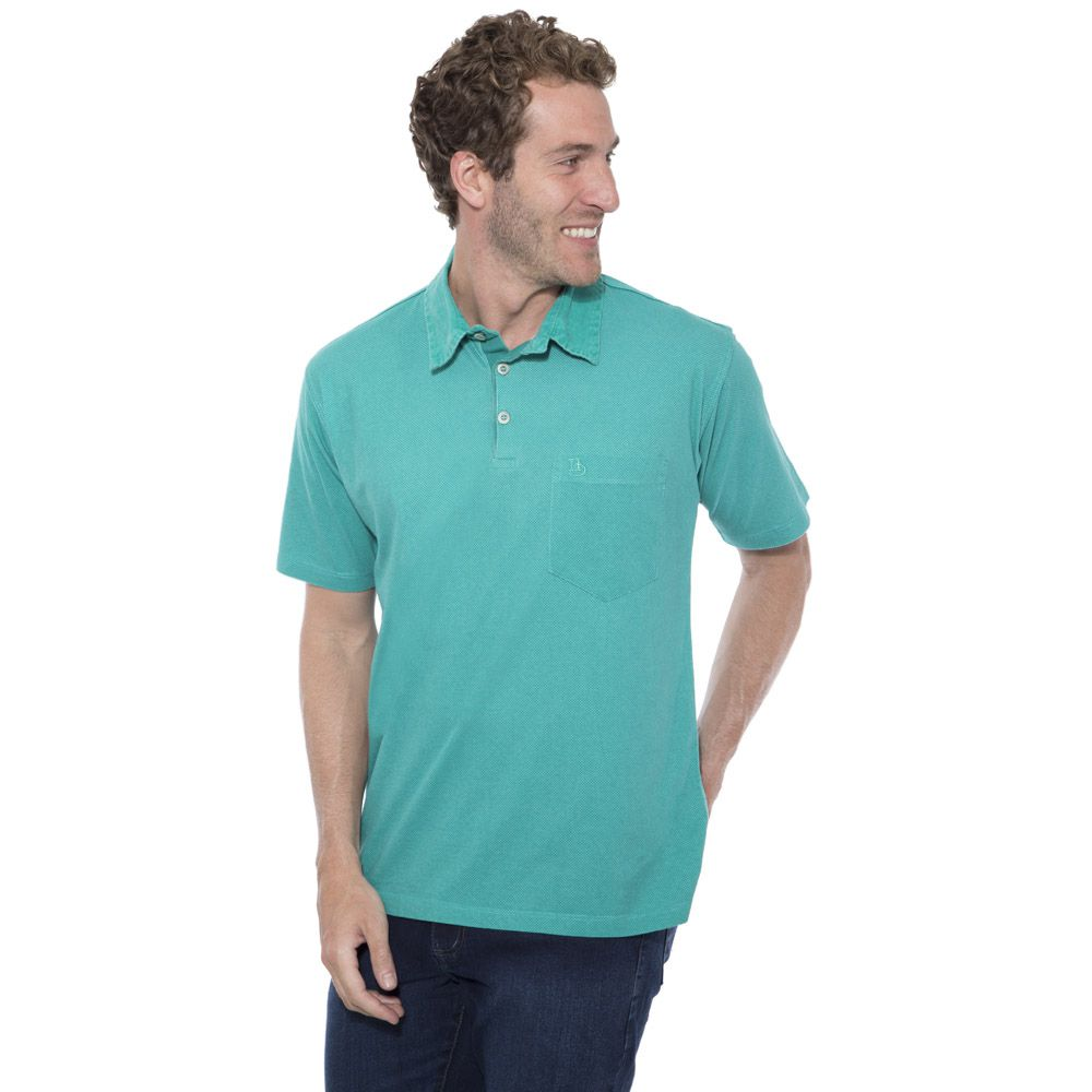 Camisa Polo Hugo Deleon Plus Estampada Verde