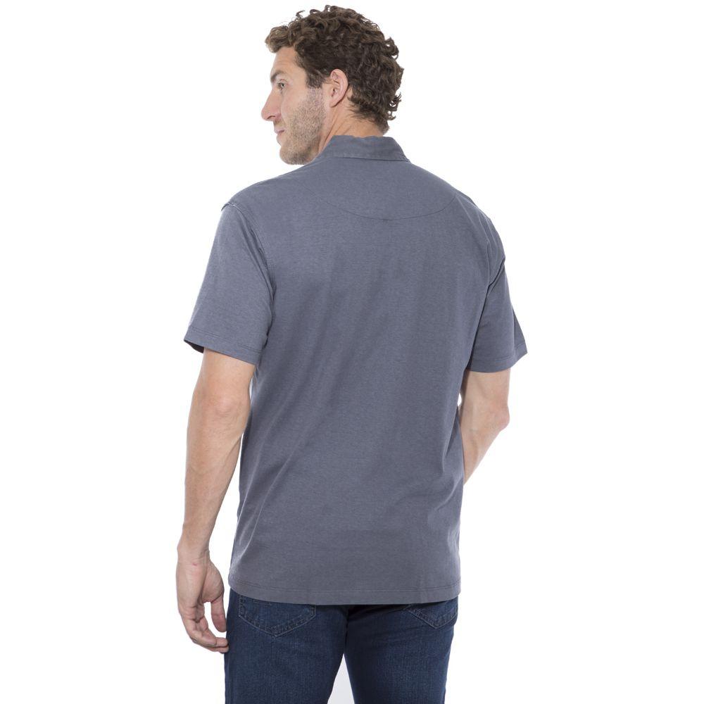 Camisa Polo Hugo Deleon Bolso Sarja Grafite