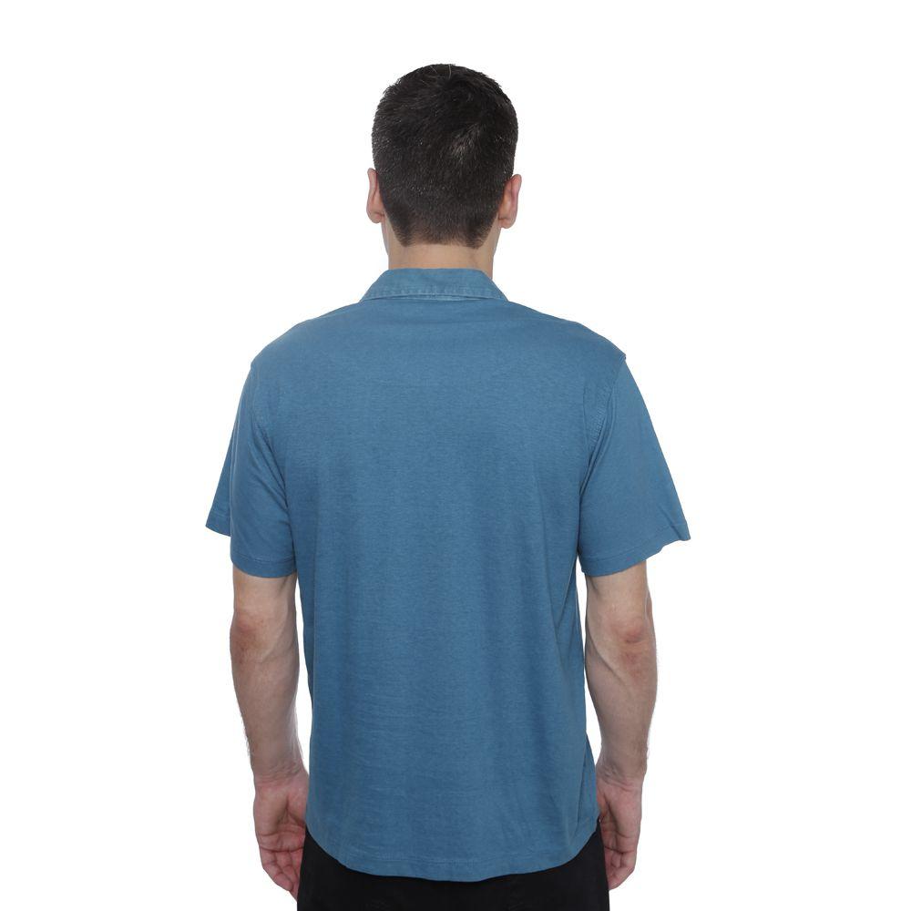 Camisa Polo Hugo Deleon lisa algodão malha verde claro