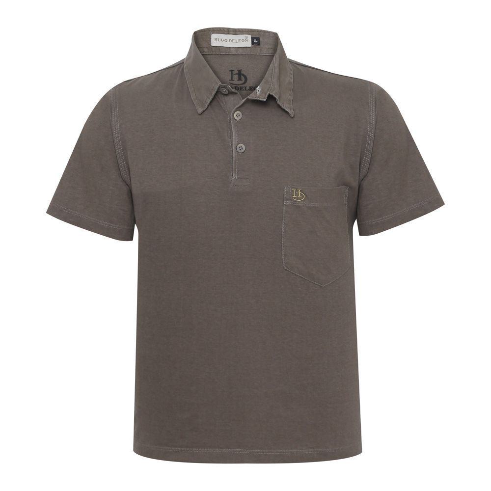 Camisa Polo Hugo Deleon Bolso Confort  Sarja Verde
