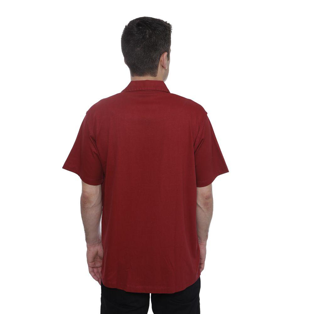 Camisa Polo Hugo Deleon Bolso Confort  Sarja Vermelha