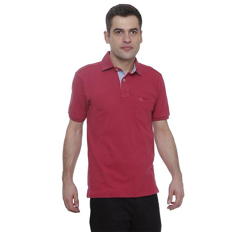 Camisa Polo Hugo Deleon lisa algodão piquet rosa