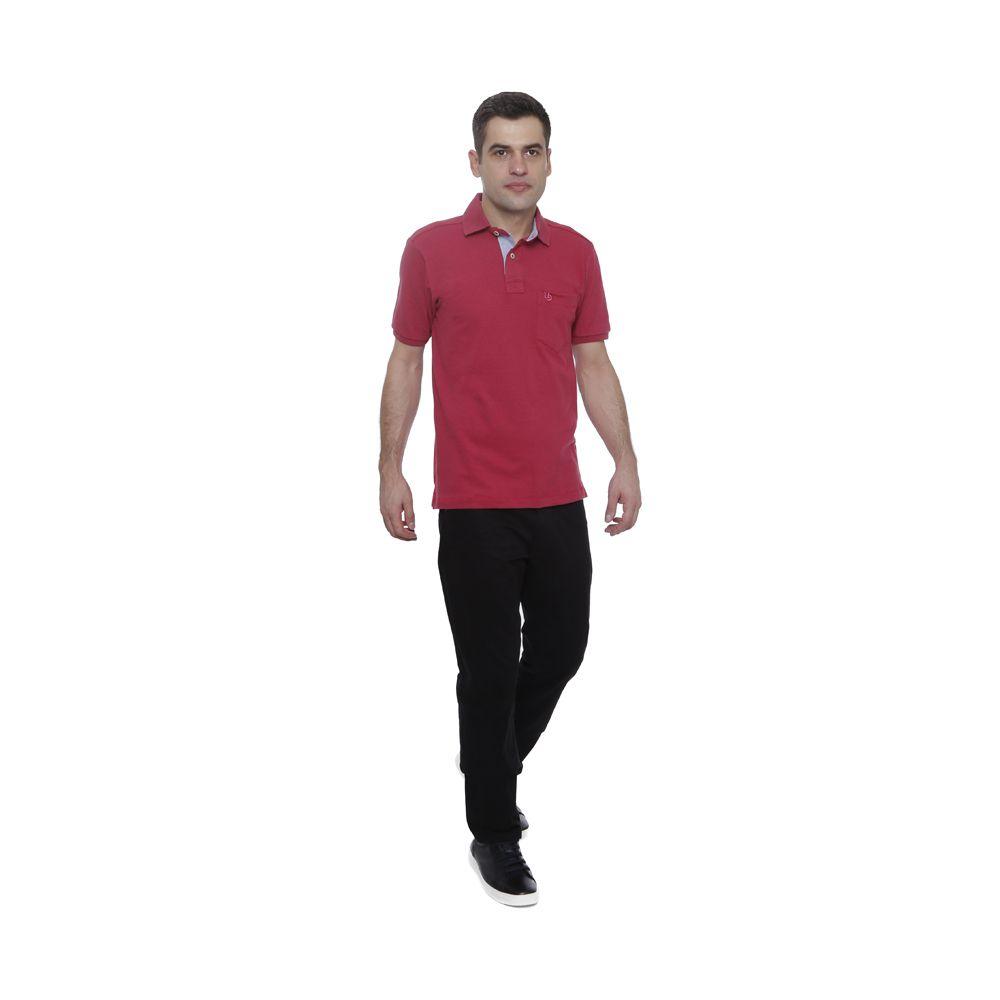 Camisa Polo Hugo Deleon Bolso Piquet Rosa