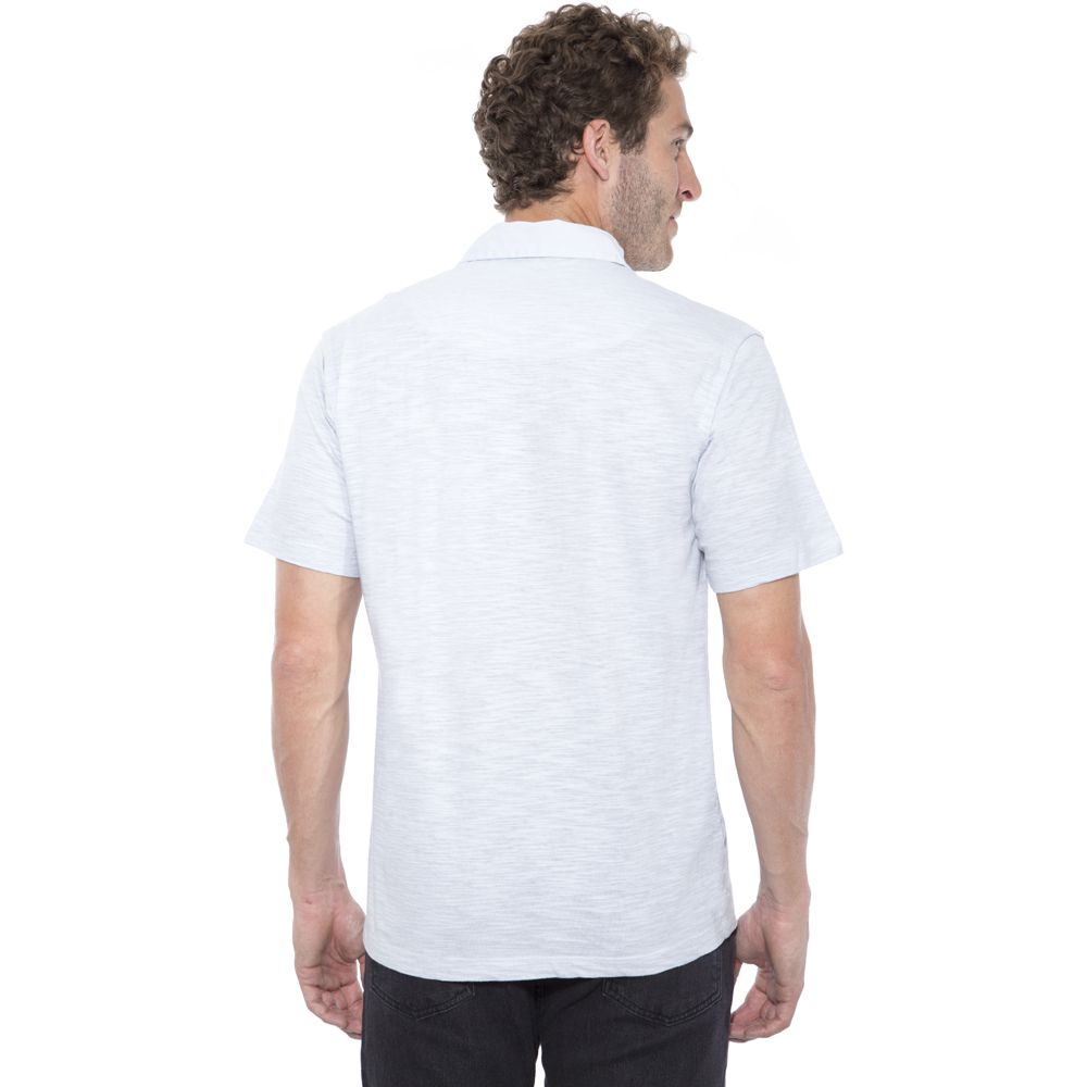 Camisa Polo Hugo Deleon Flamé Cinza