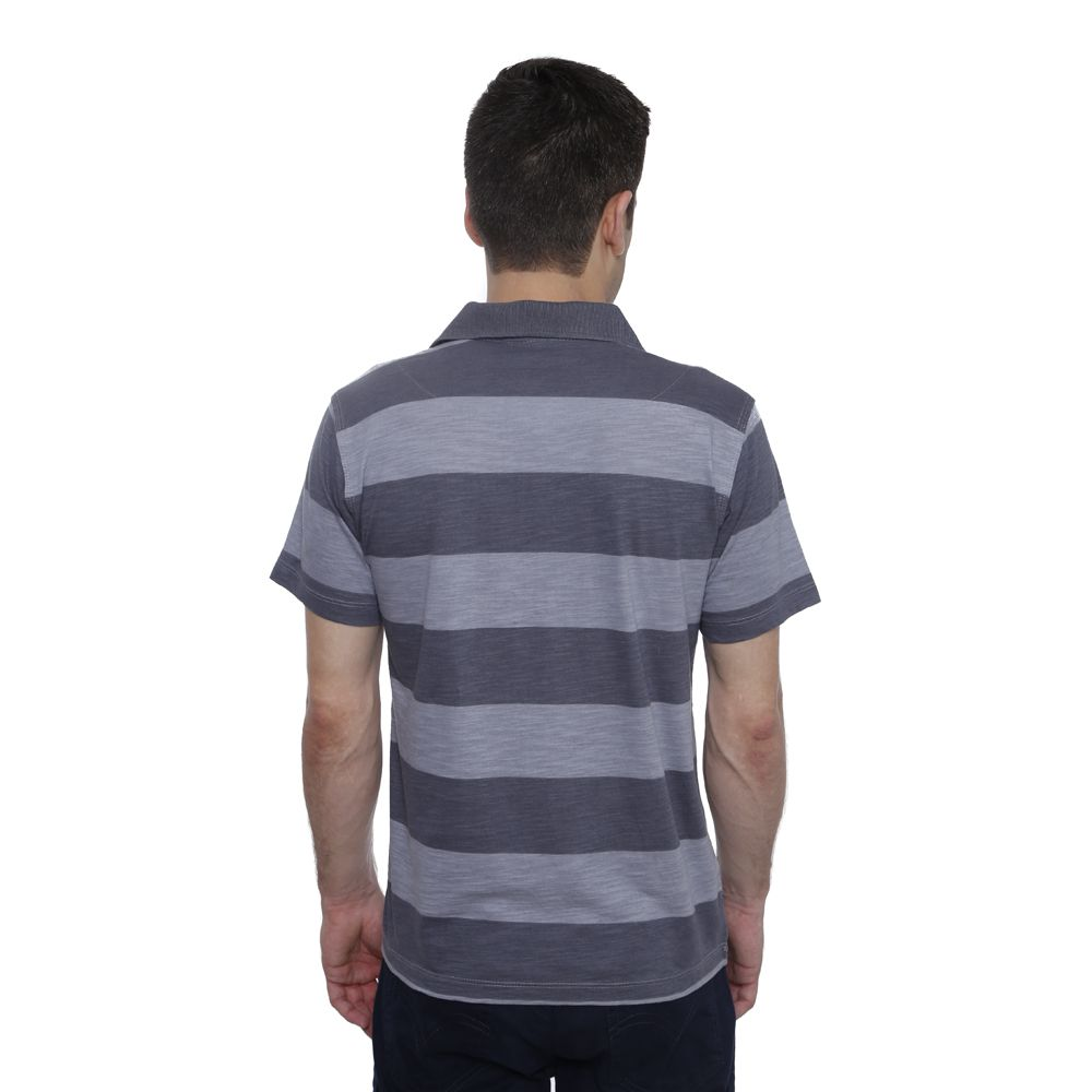 Camisa Polo Hugo Deleon Flamé Listrada Grafite