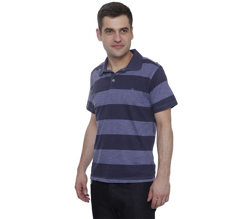 Camisa Polo Hugo Deleon Flamé Listrada Roxo