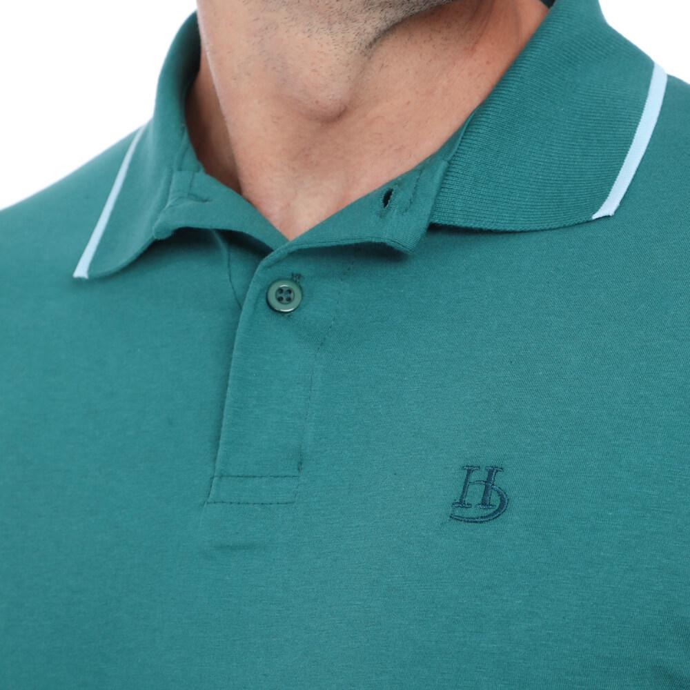 Camisa Polo Hugo Deleon Malha Lisa Verde