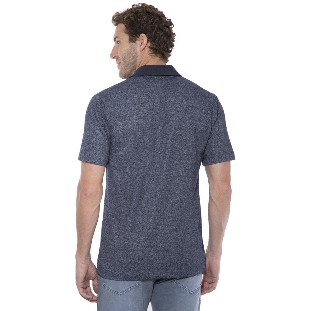Camisa Polo Hugo Deleon mescla azul escuro