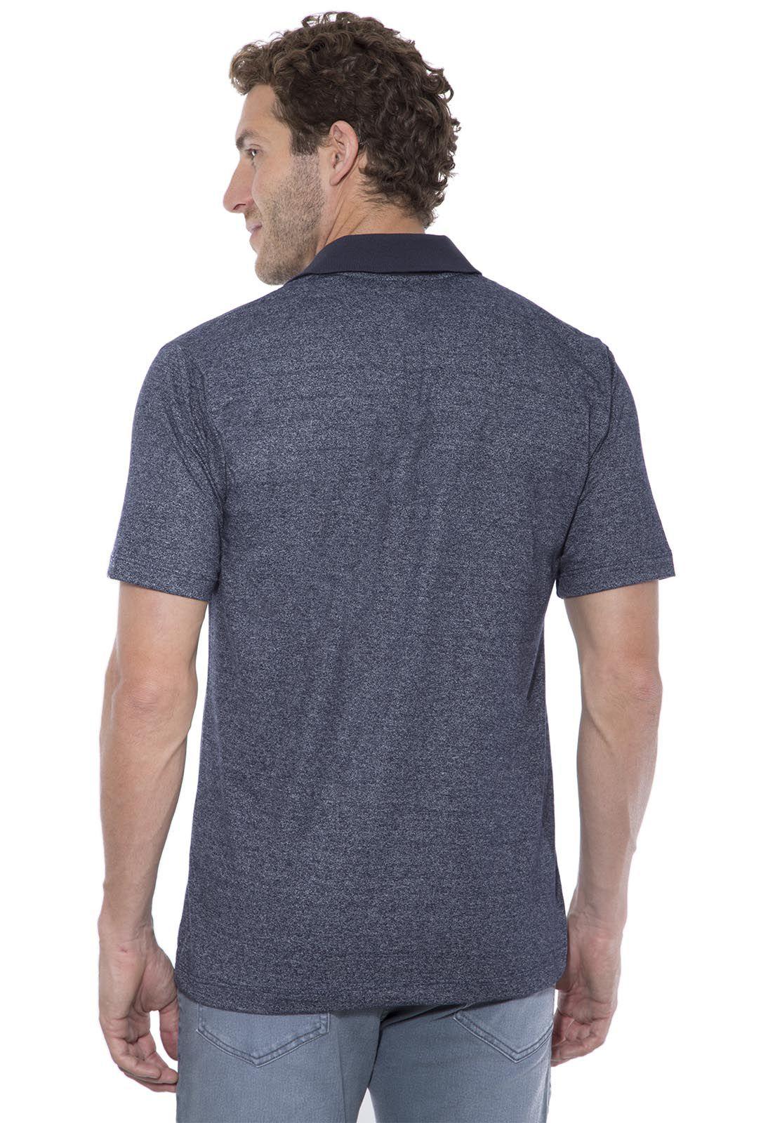Camisa Polo Hugo Deleon Mescla Azul