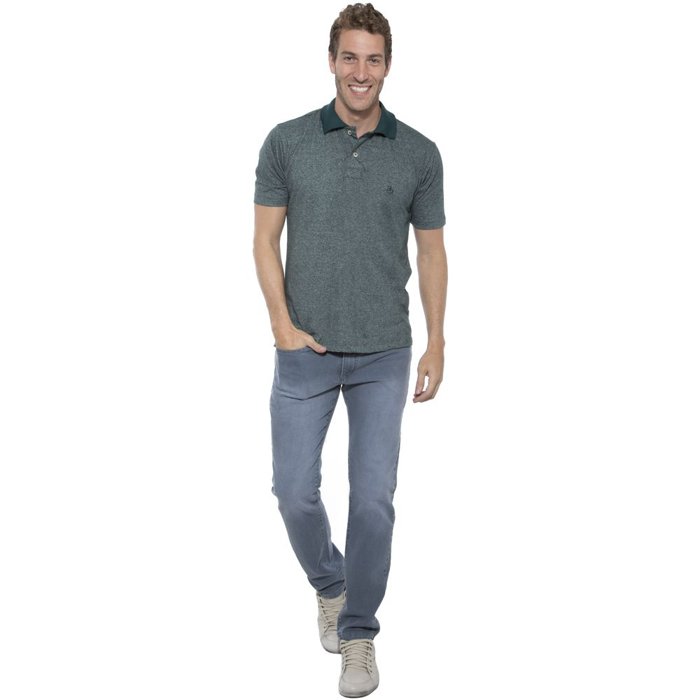 Camisa Polo Hugo Deleon mescla verde