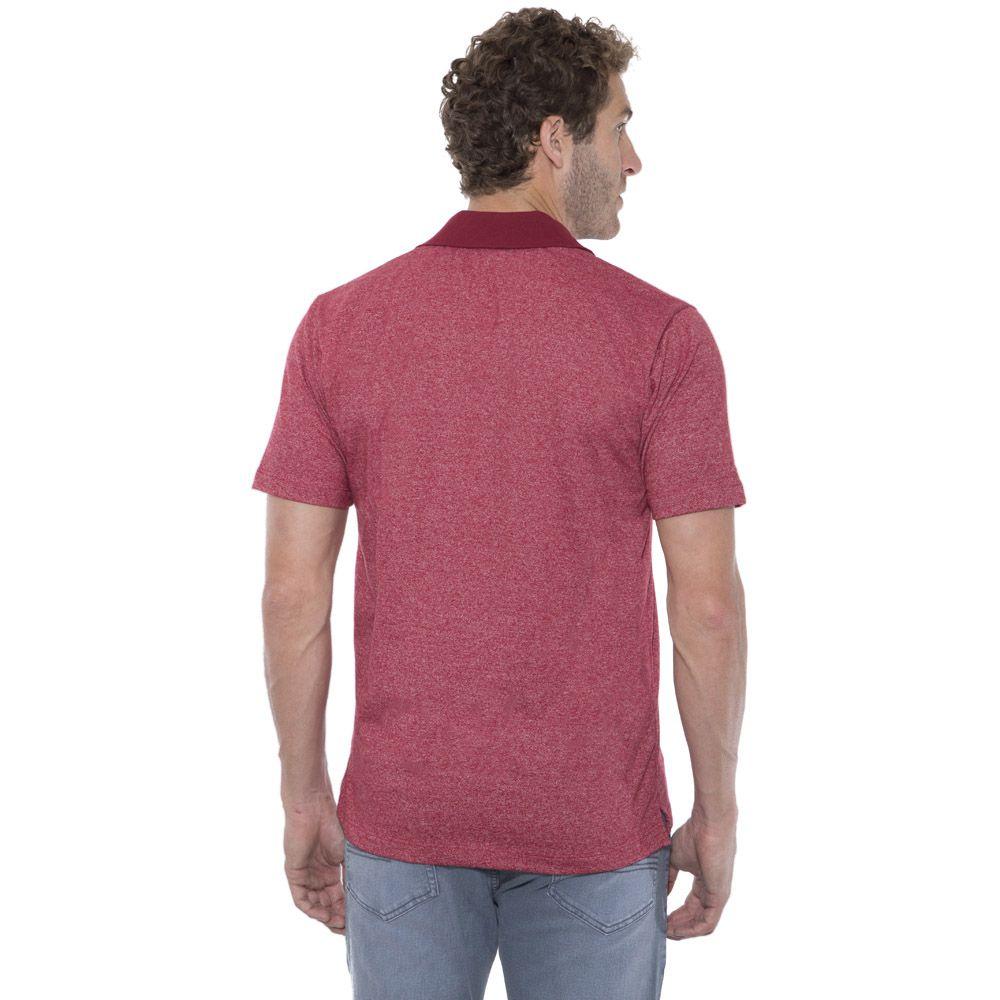 Camisa Polo Hugo Deleon mescla vermelha